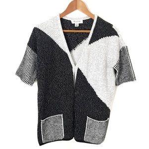 ST. JOHN Short Sleeve Knit Cardigan NWOT